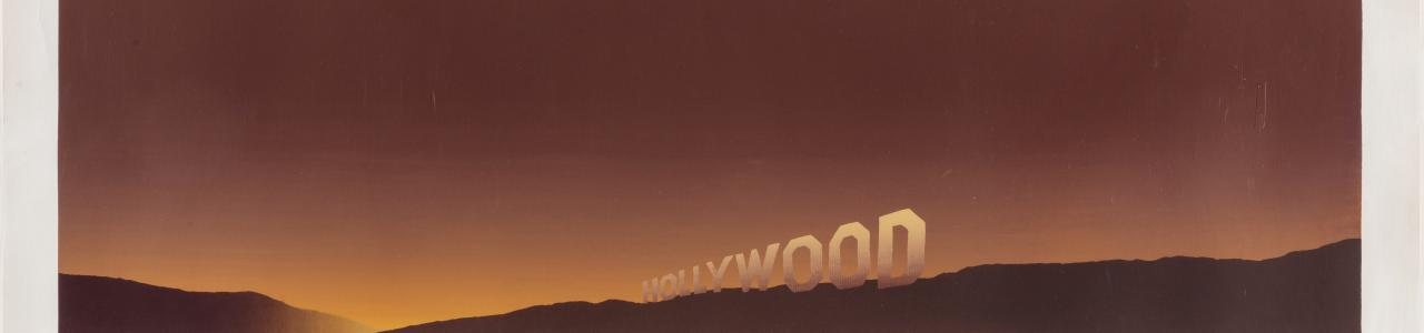 Ed Ruscha, Hollywood, 1968. UBS Art Collection ©Ed Ruscha. Courtesy of the artist and Gagosian.