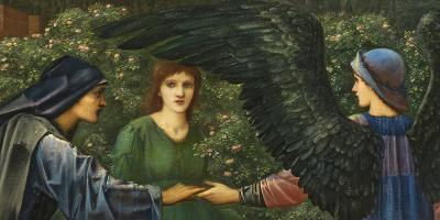 Edward Burne Jones, Heart of the Rose, 1889 (detalj).