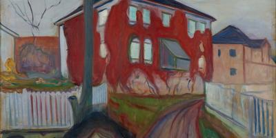Edvard Munch, Rød villvin/Red Virginia Creeper, 1898-1900, Munchmuseet.