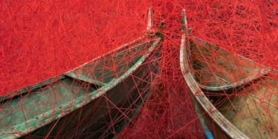 Chiharu Shiota: Direction, 2017. Photo: Dag Fosse / KODE